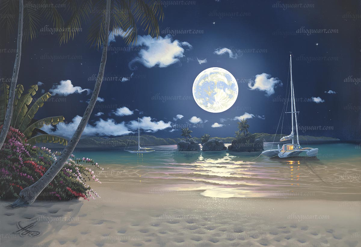 """Moonlit Islands"" Available on limited edition Giclee on canvas"