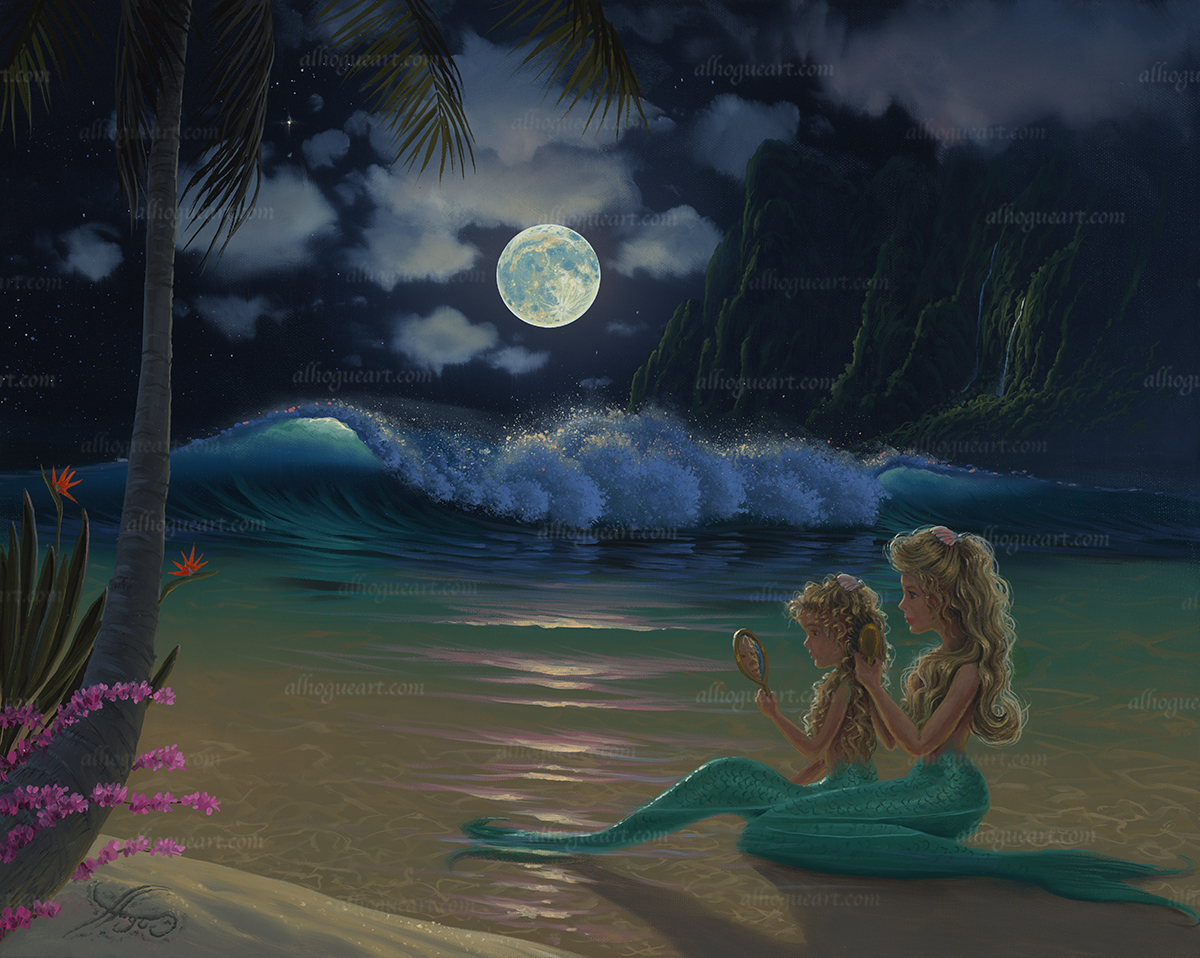 """Mermaids""  Available on limited edition Giclee on canvas"