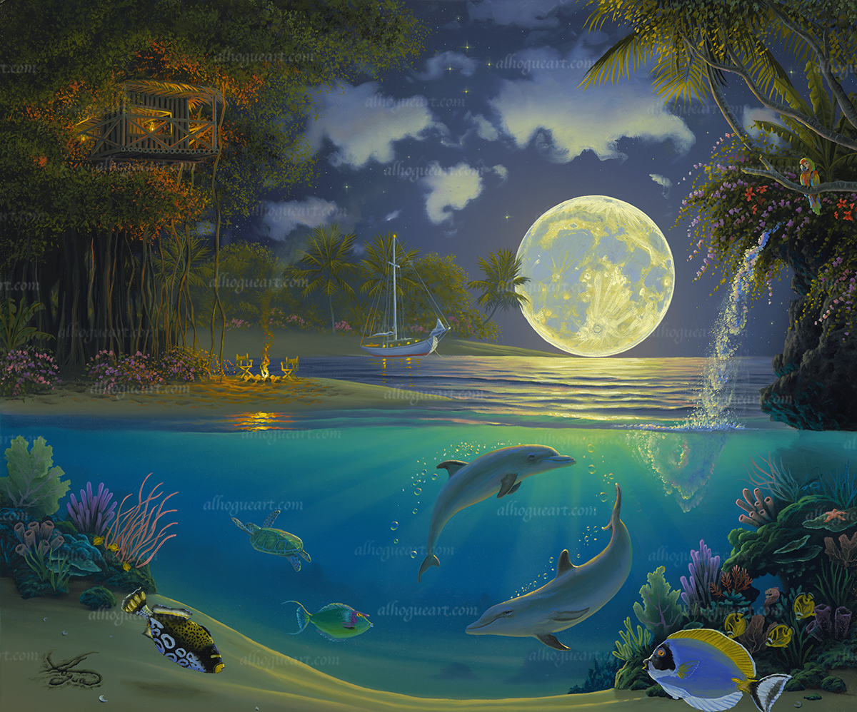 """""""Moonlit Symphony""""  Available on limited edition Giclee on canvas & lithographs"""