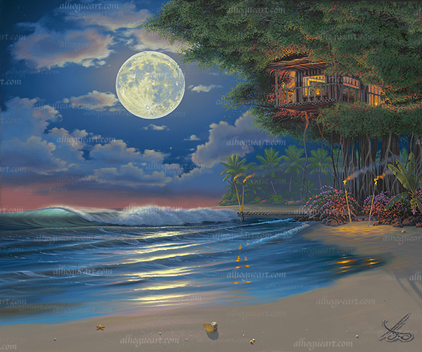 """""""Moonlit Serenade"""" Available on limited edition Giclee on canvas"""