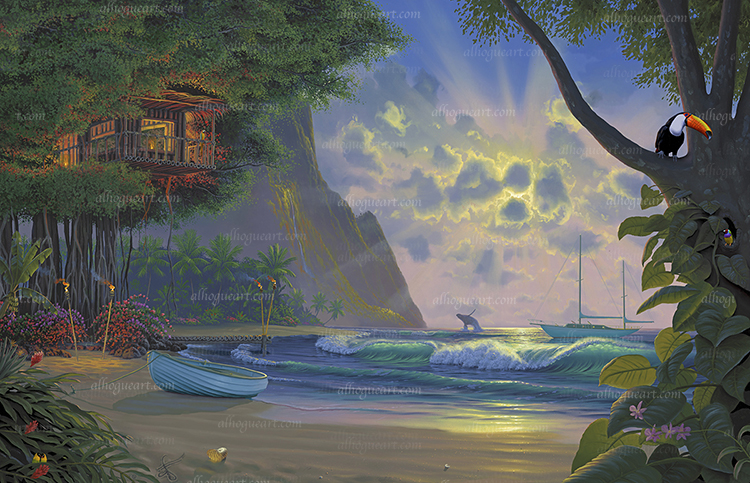"""""""Paradise"""" Available on limited edition Giclee on canvas"""