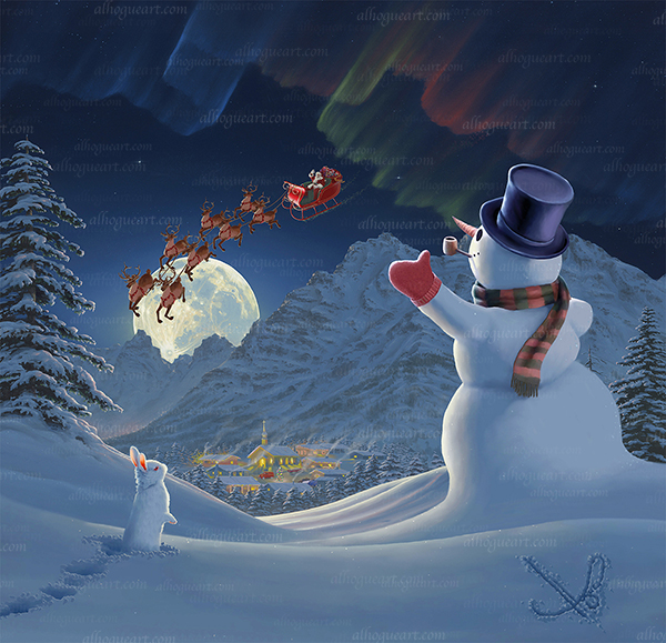 """""""Christmas Eve"""" Available on limited edition Giclee on canvas"""