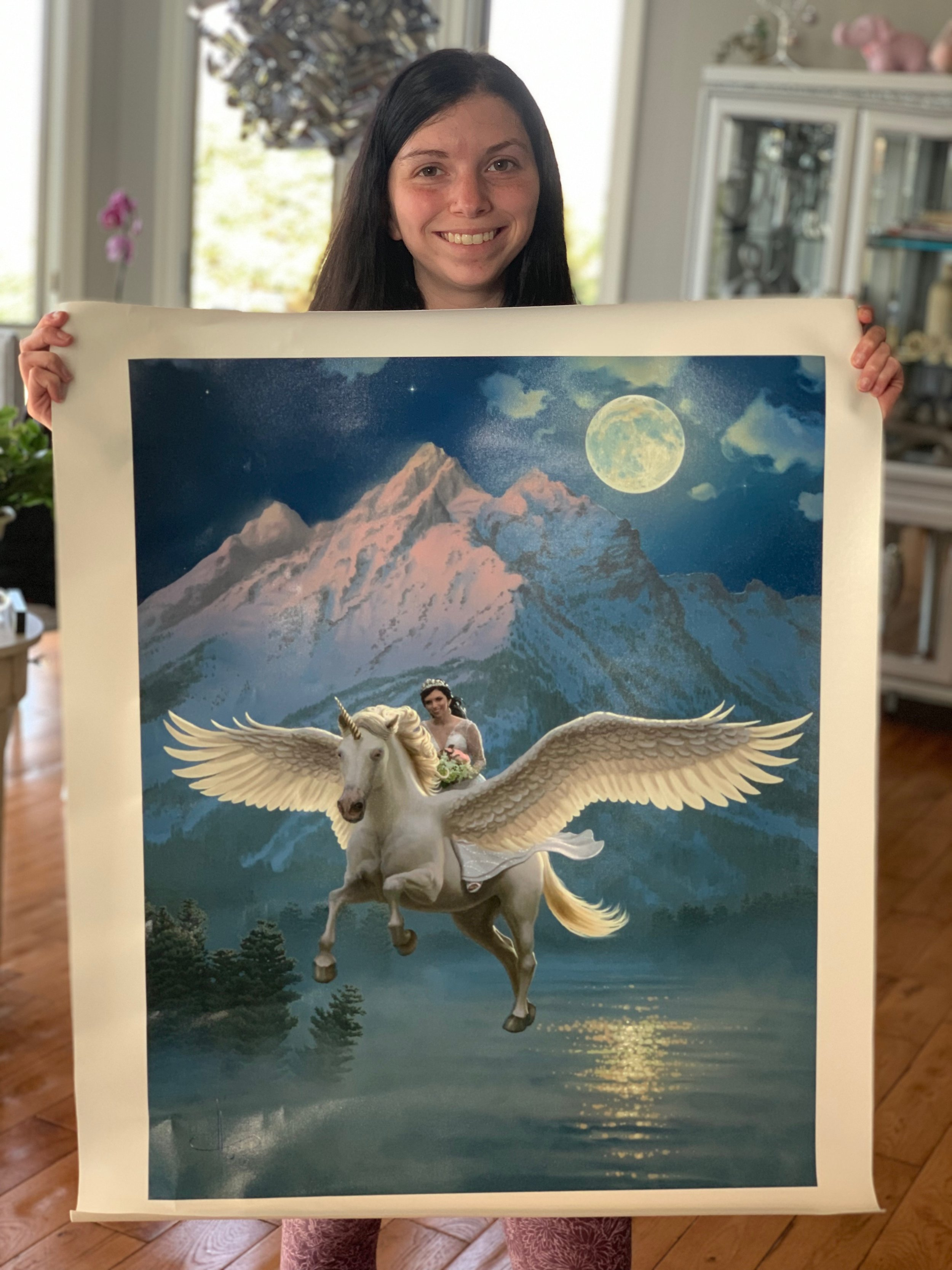 """""""Taia's Mystical Journey"""" Taia and her print"""