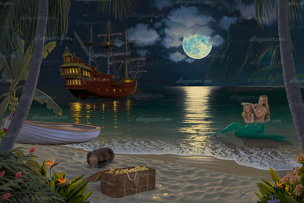 """""""Treasure Island"""" Available on limited edition Giclee on canvas"""