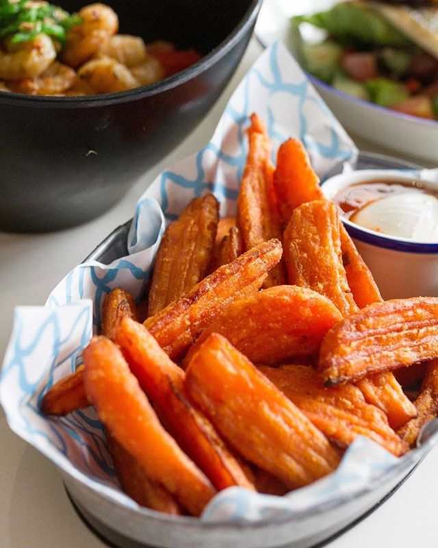 Centre stage, just where our sweet potato fries belong. Served with sour cream & sweet chilli sauce for maximum flavour, these crispy critters will be waiting for you at Wild tomorrow. #lifesbettewild