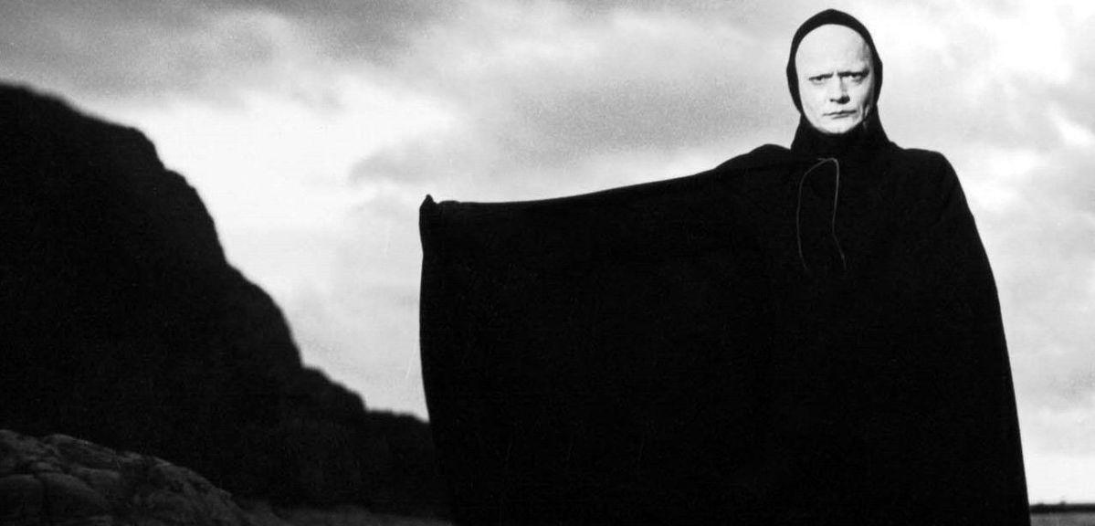Bengt Ekerot as Death in 'The Seventh Seal' by Ingmar Bergman