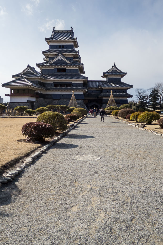 Front entrance to Matsumoto castle