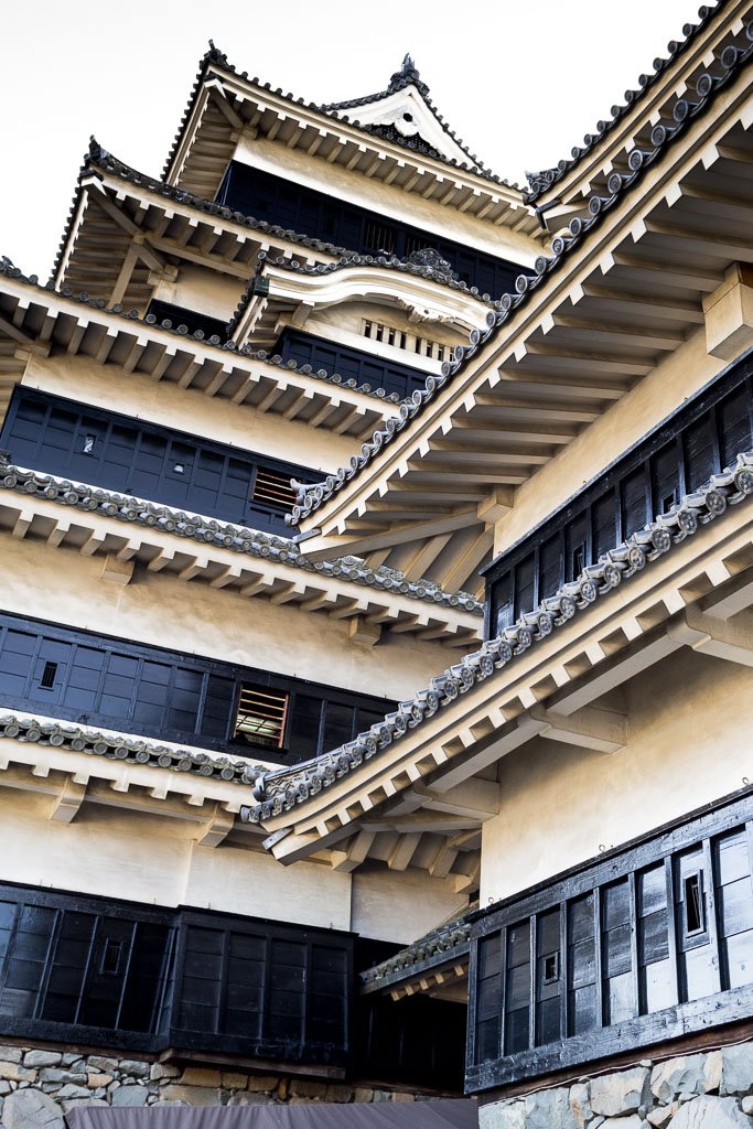 Roof details of Matsumoto castle