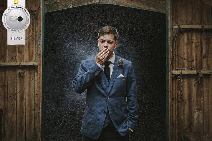Epic groom portrait