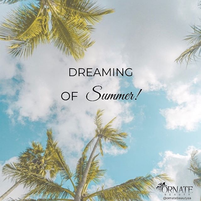 Who else is counting down the days to summer? We've certainly had enough of this cold weather! 🌧❄️☔️🌥⛅️🌤☀️☀️☀️ #ornatebeautysa #adelaidesalon #like #follow #love #winter #winterweather #overcoldweather #dreamingofsummer #summeriscoming #saturday #saturdayvibes