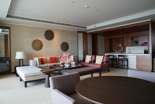 The first half of our suite at the Raffles Hainan