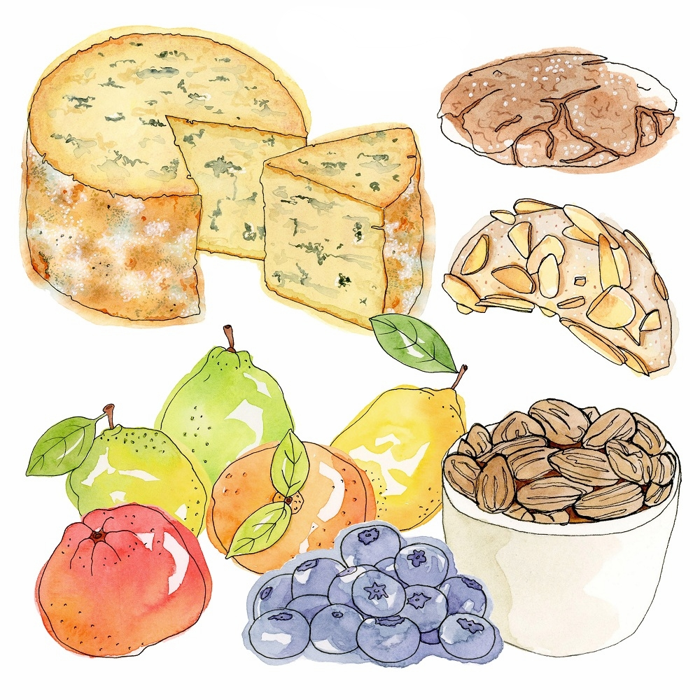 Food Illustration - Cecile is our Lead Illustrator and gives this website that extra magic touch!