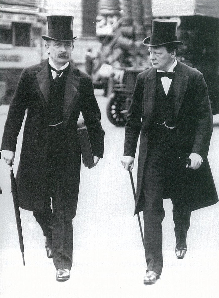 Churchill with David Lloyd George, Chancellor of the Exchequer, c. 1910 ©Buyenlarge/Getty Images