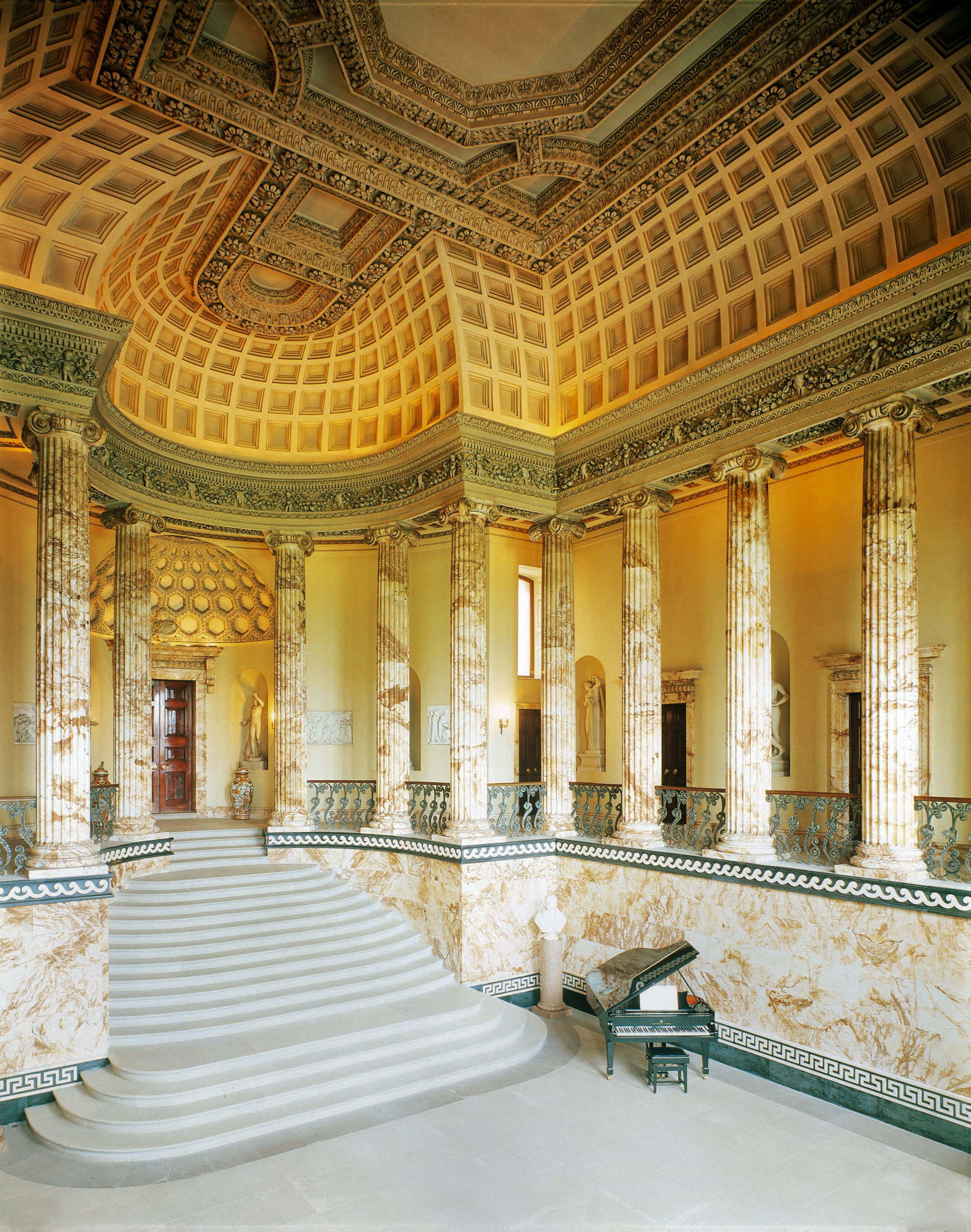 The Marble Hall, Holkham Hall, Norfolk  Photo: By kind permission of the Earl of Leicester and the Trustees of the Holkham Estate