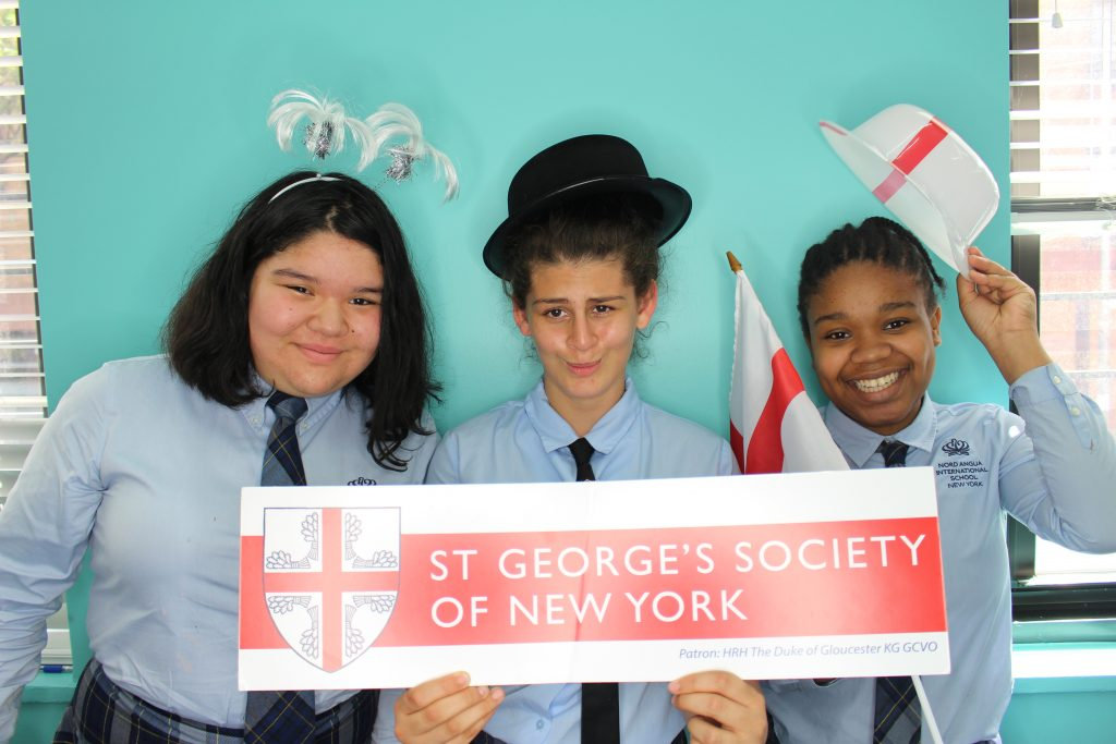 Nord Anglia students enjoying the photobooth