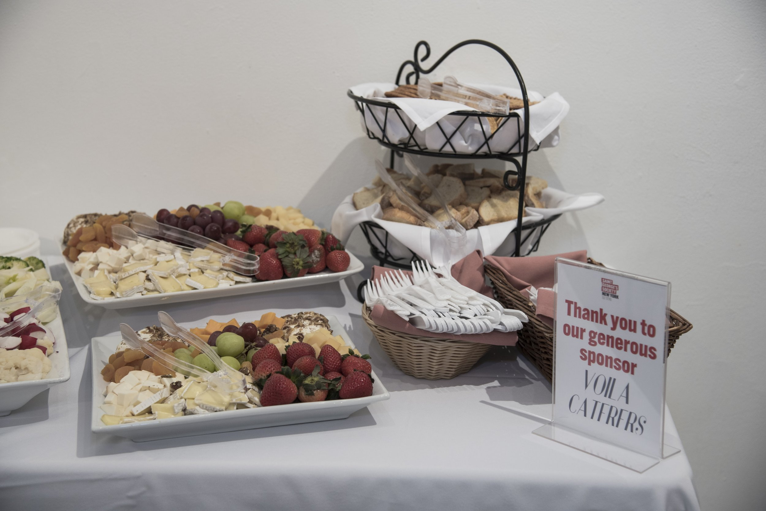 Catering was kindly sponsored by  Voila Caterers .