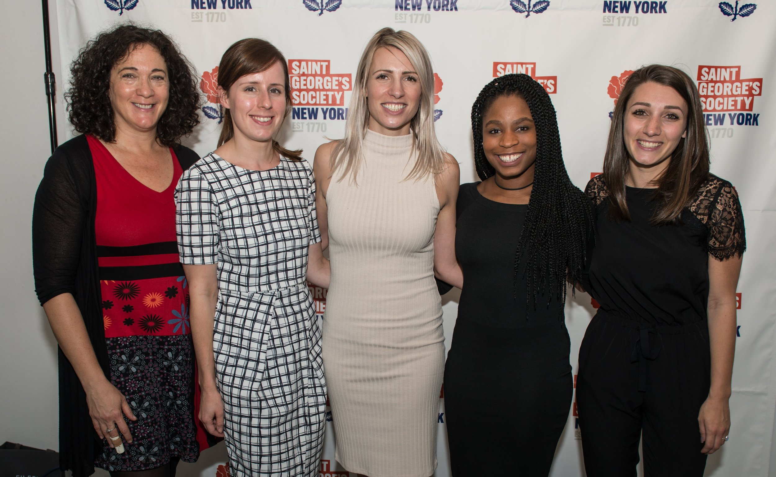 The St. George's Society team (L to R): Julie Rosenberg, Grace Owen, Anna Titley, Hastings Hill, Eliane Abou-Assi.