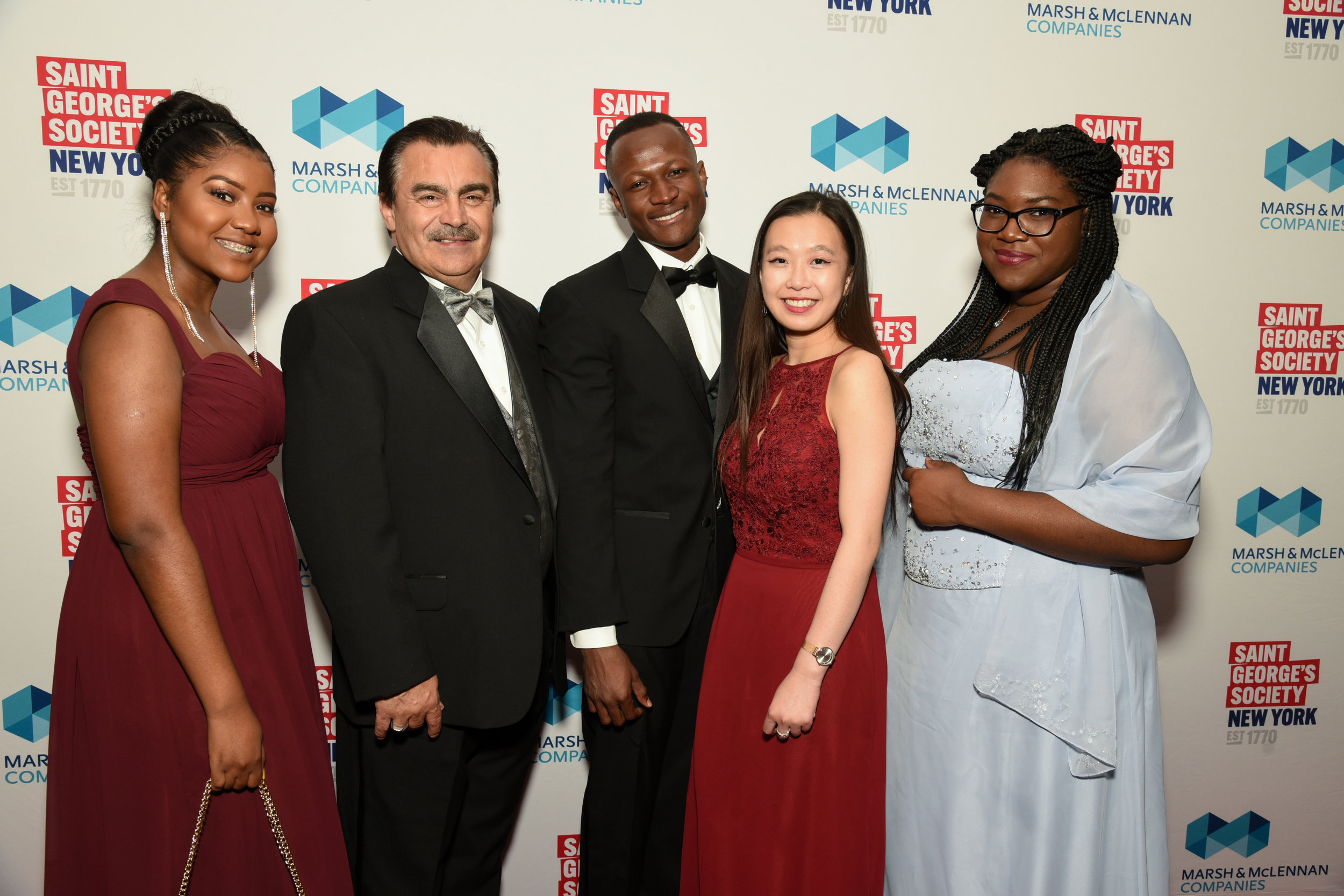 St. George's scholars with José Magdaleno, Vice President of Student Affairs at Lehman College