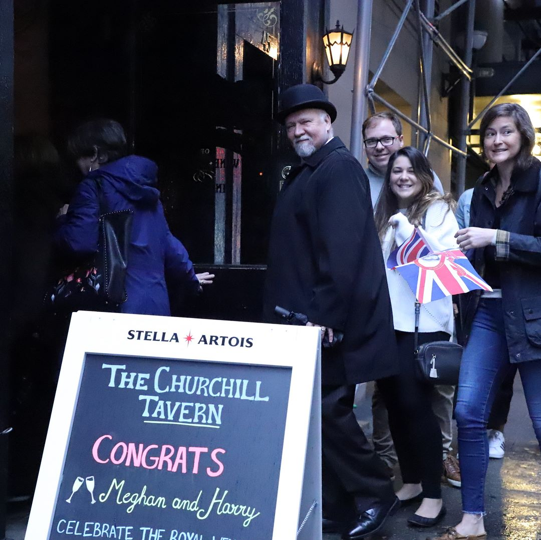The Churchill hosted an all-day viewing party.