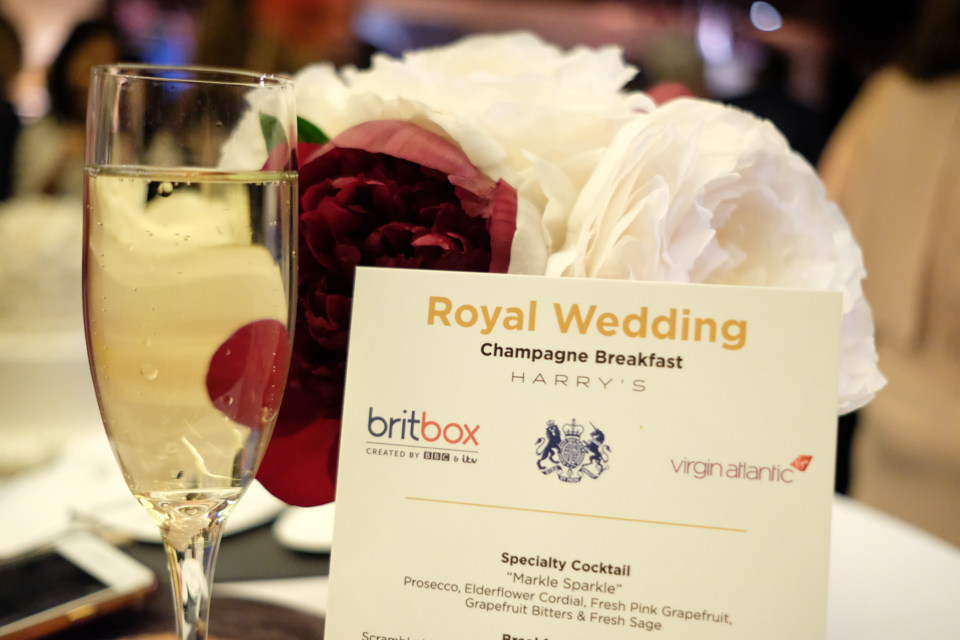 """Guests enjoyed a champagne breakfast at Harry's Bar including the specialty cocktail """"Markle Sparkle"""""""