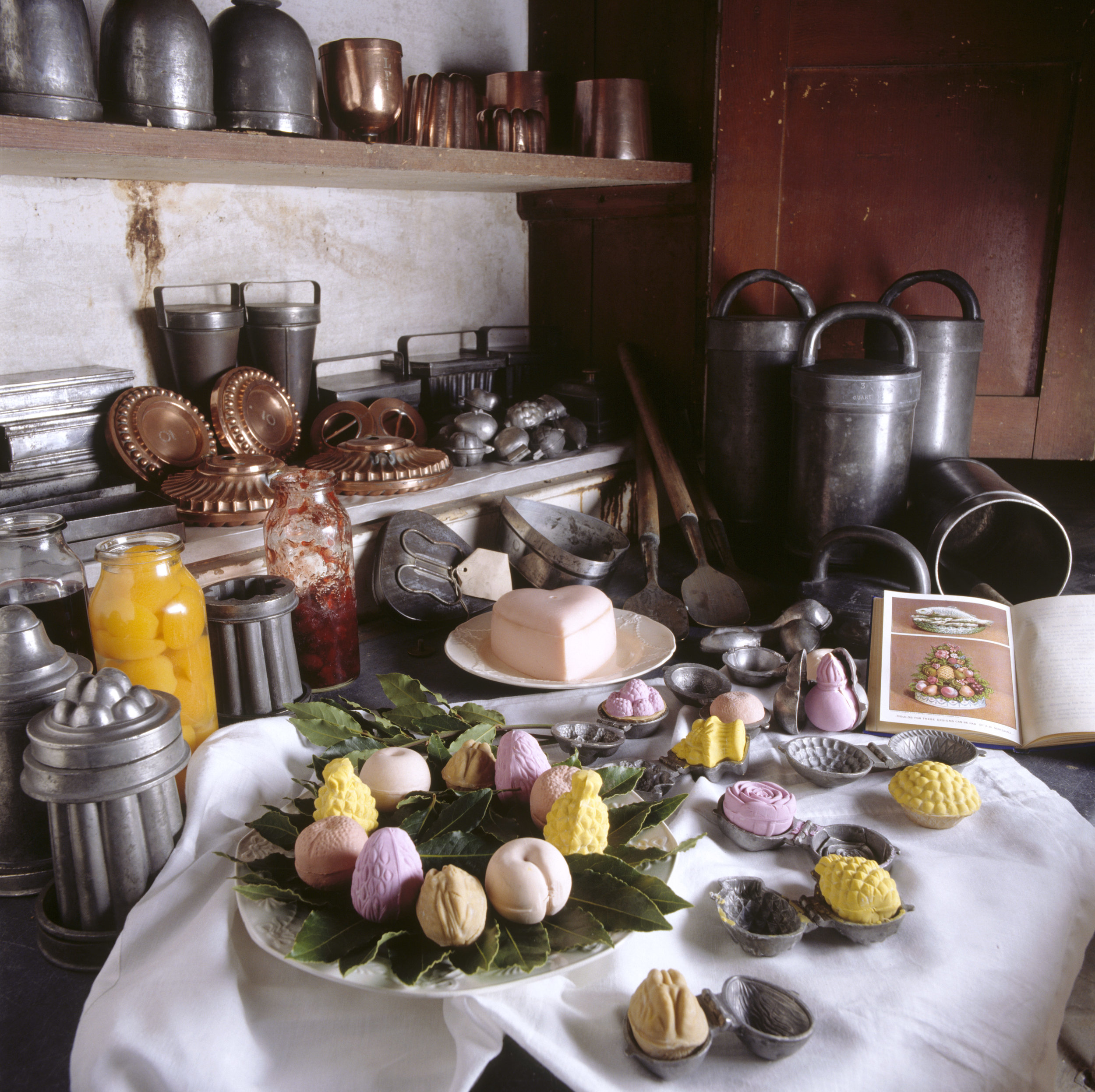 Victorian ice cream making utensils in the Larder at Petworth House, West Sussex ©National Trust Images Andreas von Einsiedel