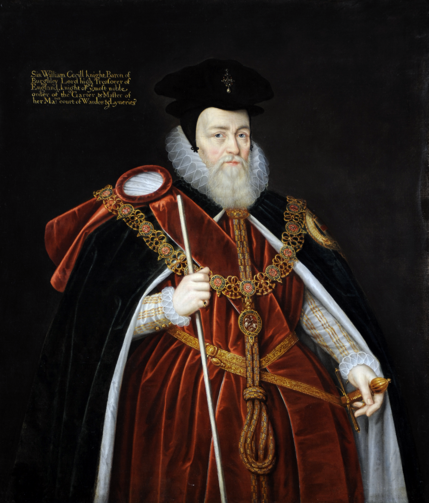 William Cecil, 1st Baron Burghley, after Marcus Geeraerts, the younger. ©National Trust Images