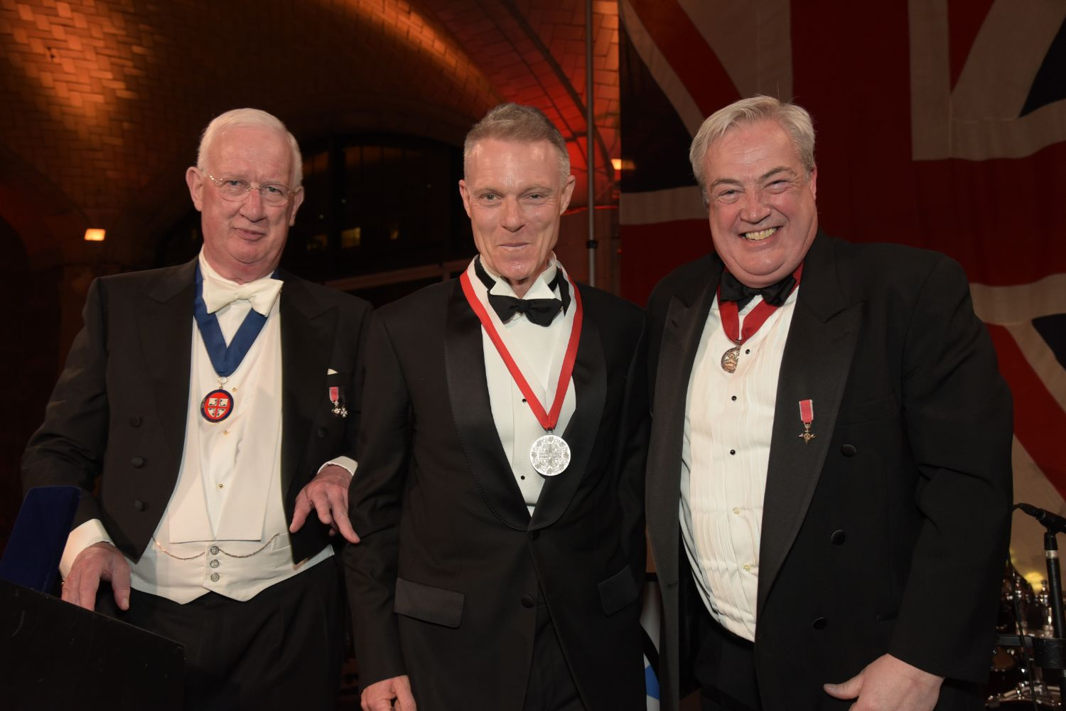 C. Hugh Hildesley MBE, Tim Marlow and Philip Warner OBE