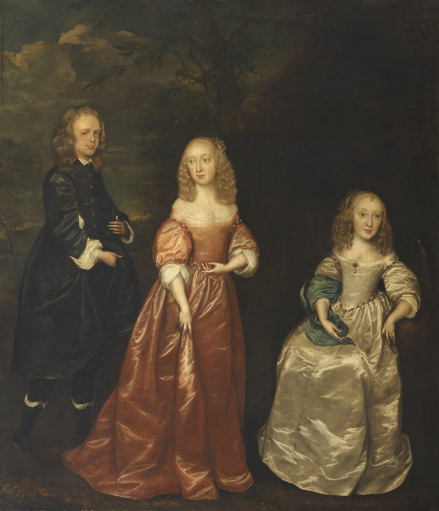 Elizabeth Murray, Countess of Dysart, with her First Husband, Sir Lionel Tollemache, and her Sister, attributed to Joan Palmer ©National Trust Images