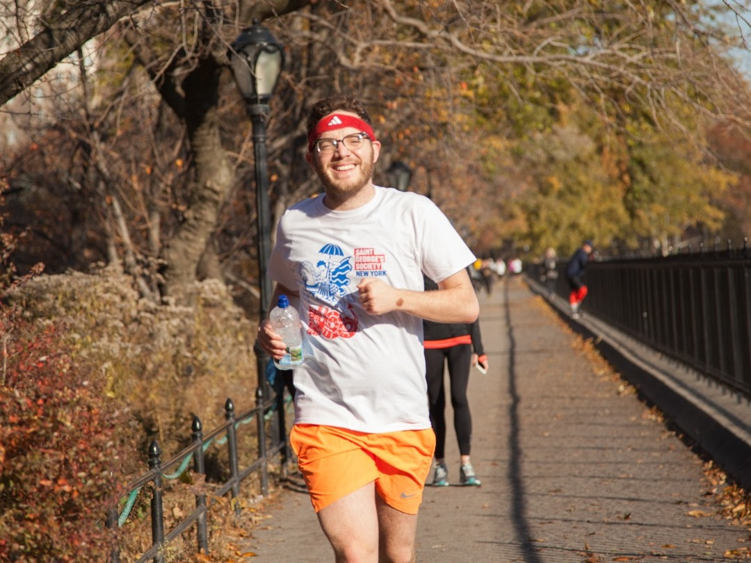 "Charles during the Society's ""Run with Radcliffe"" training session in 2017."