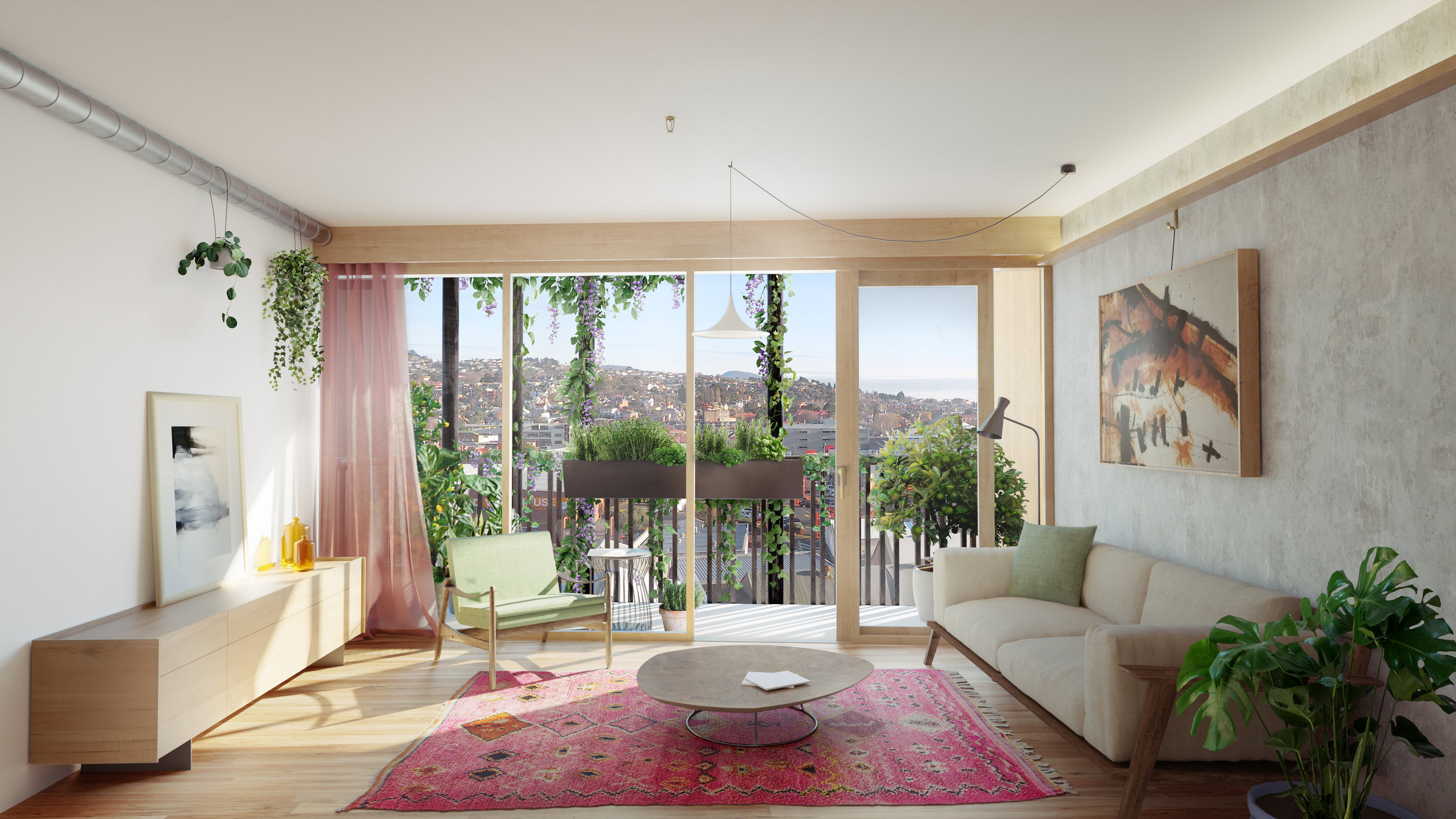 Living spaces will take full advantage of natural light and clever layout to cancel out the need for air conditioning.