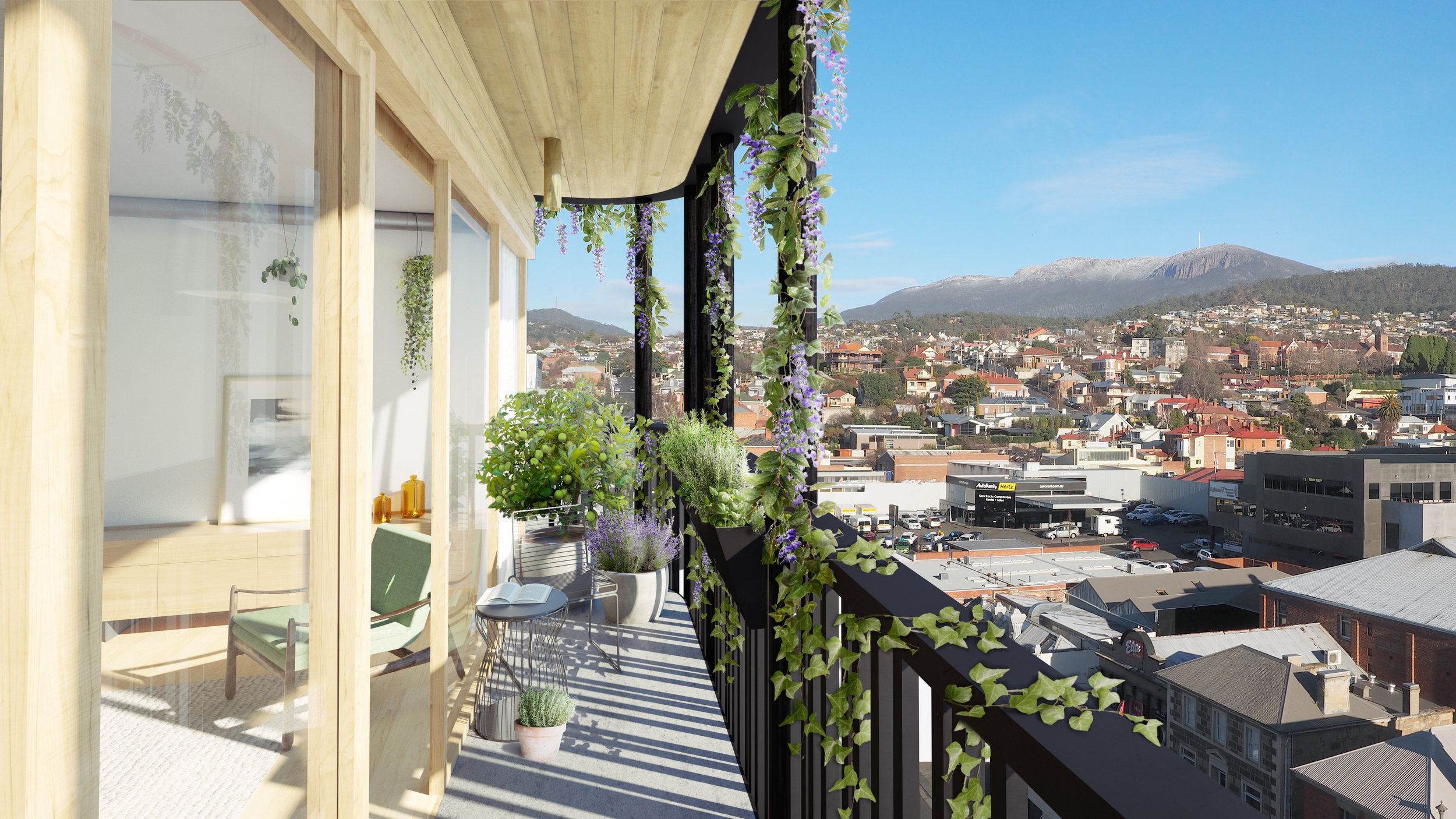 Like its Melbourne counterpart, The Commons Hobart will have an enviable urban location and views that will sweep across the city and the quiet constant of Mount Wellington in the background.