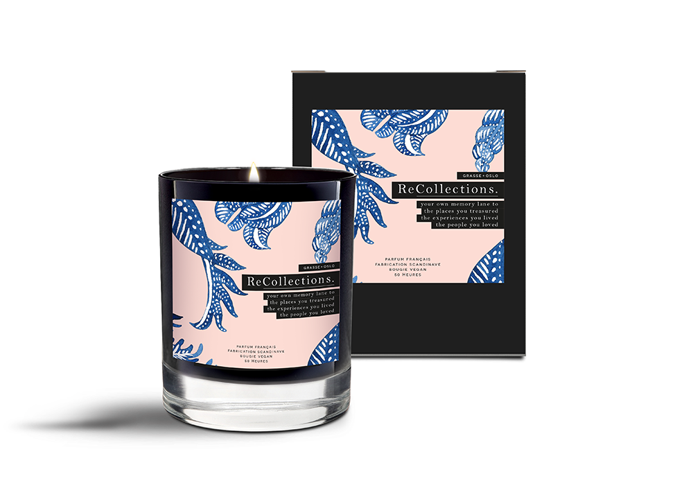 recollections candles black jar