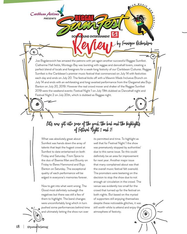 Enjoy our review of Reggae Sumfest 2019, the greatest reggae show on planet Earth 🌎🇯🇲🧡🔥 See 🔗 to latest issue in our bio  Review by Fonnique Richardson @fonrichardson  #ReggaeSumfest #Jamaica #Reggae #Dancehall #Music #Magazine #Lifestyle