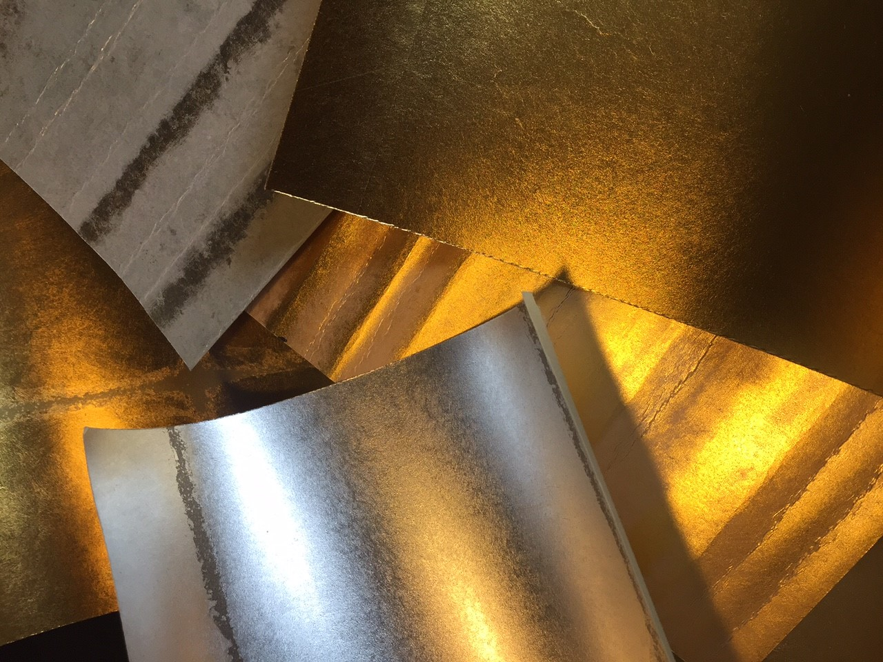 METAL LEAF - Precious metals foiled onto paper rolls ready to go.