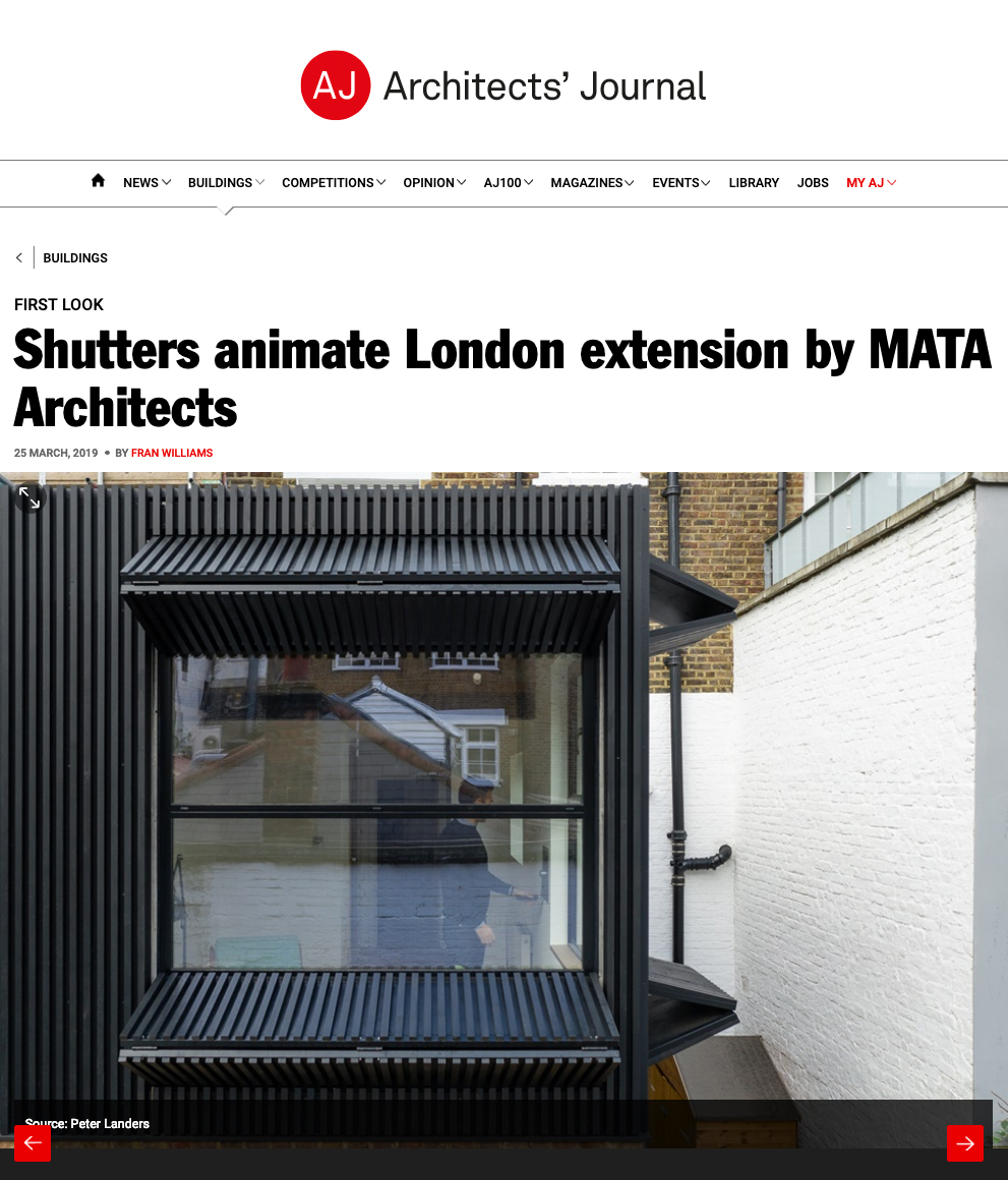 Architects' Journal, 2019