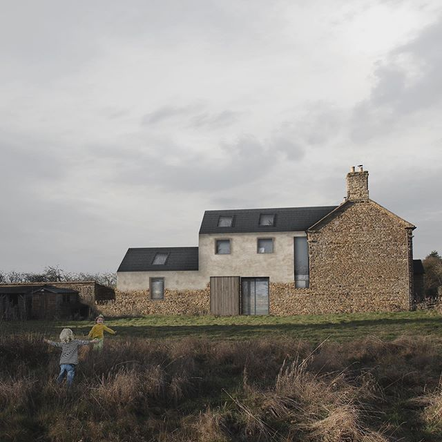 We've won planning permission for our scheme at Hillcrest in rural Northamptonshire. The scheme involves a sensitive extension to a beautiful stone house. We have retained as much of the original building fabric as possible which is contrasted with a lime rendered finish to the extended areas.