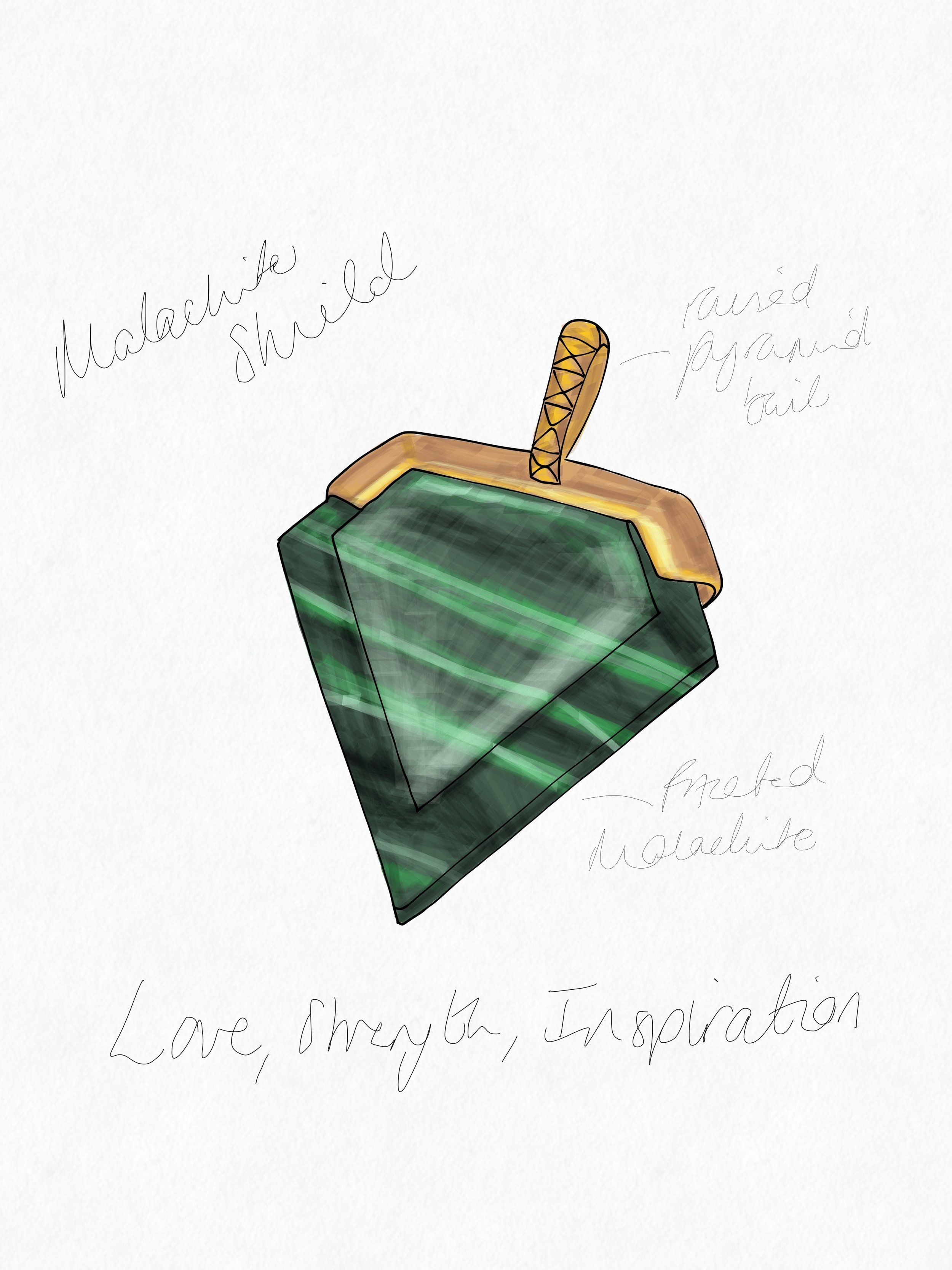 Malachite Shield Pendant.JPG
