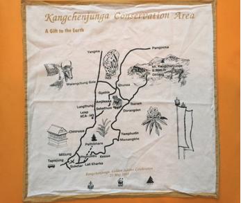Handy, multi-purpose map of Kanchenjunga Area