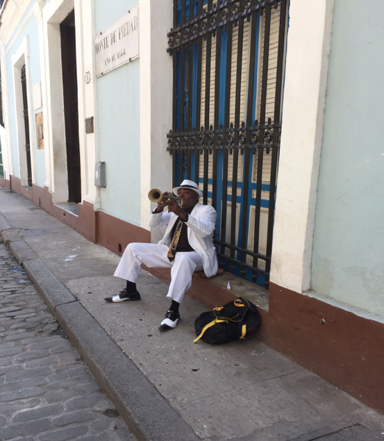 Music is the lifeblood of Cuba culture. Old Havana, 2016.