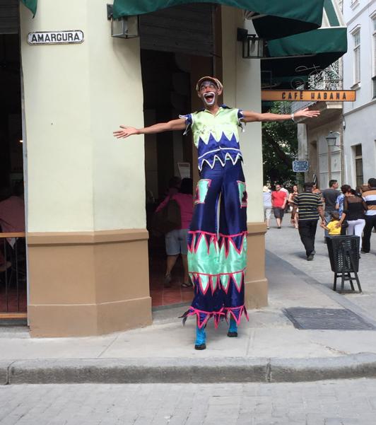 Ever-present street theater, Old Havana, Cuba, 2016.