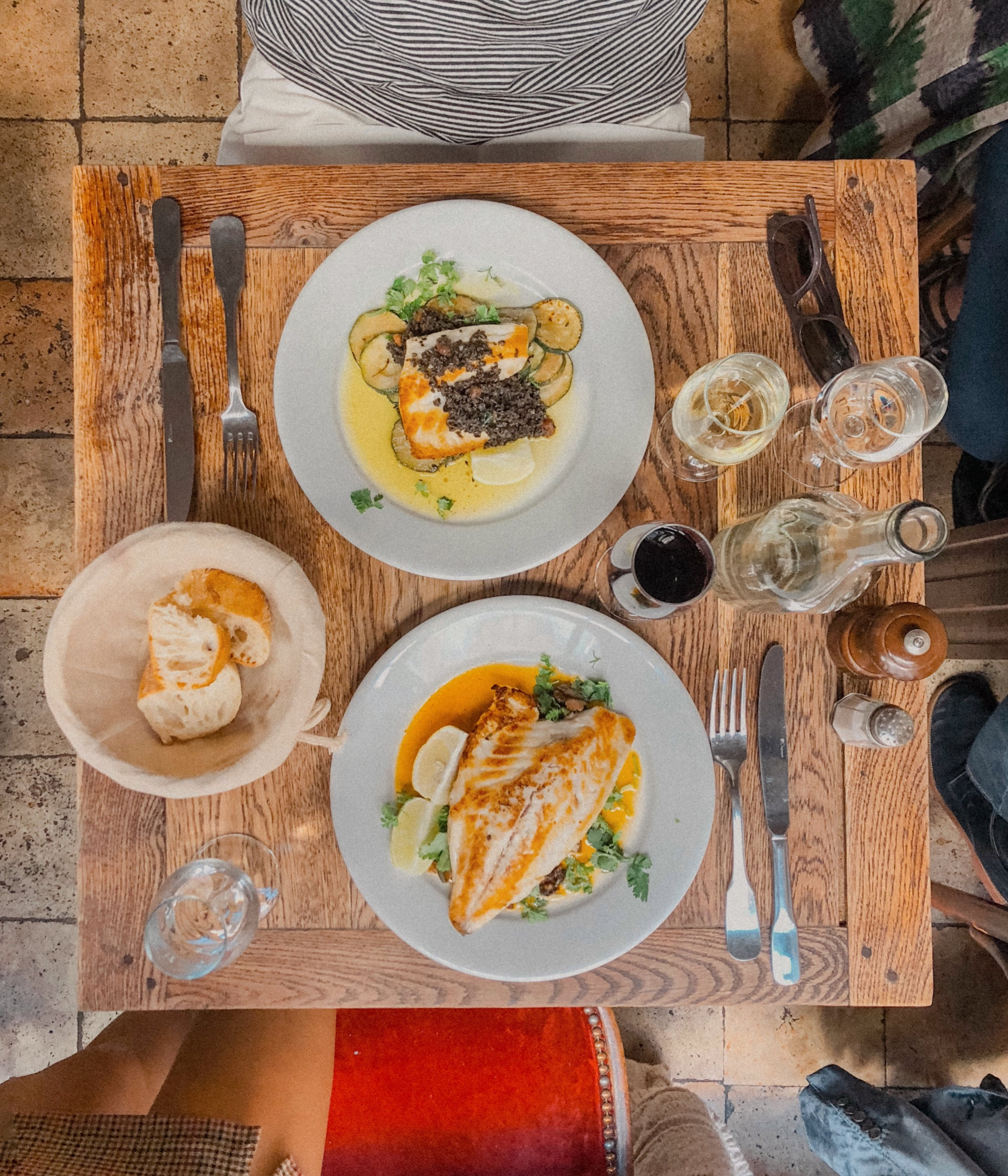 Situated on a quiet street steps away from Musée d'Orsay was this total local joint specializing in French-prepared fish and natural wine. A highlight meal of the trip!