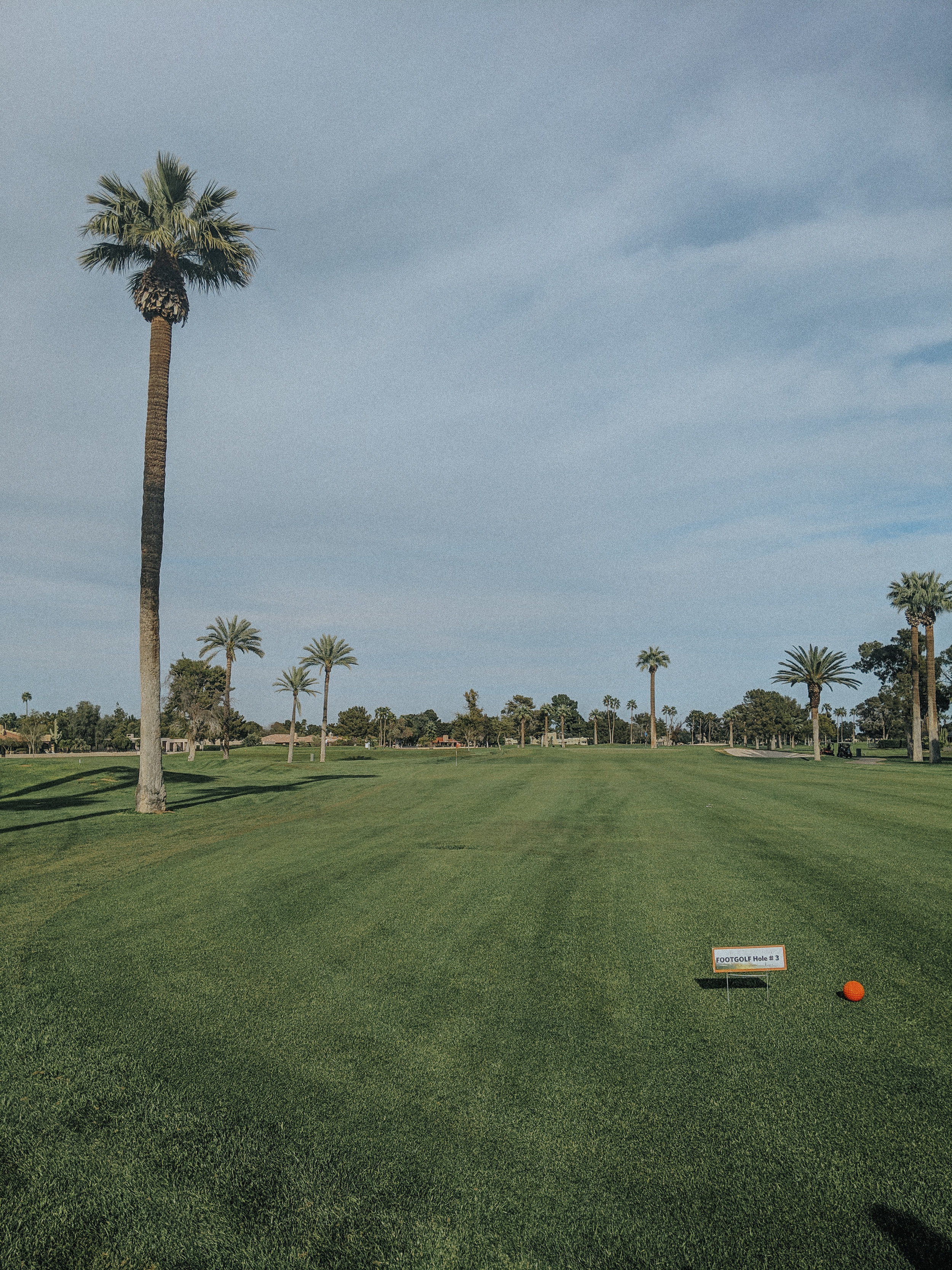 The Wigwam's golf course has a foot golf course with 18 holes!!