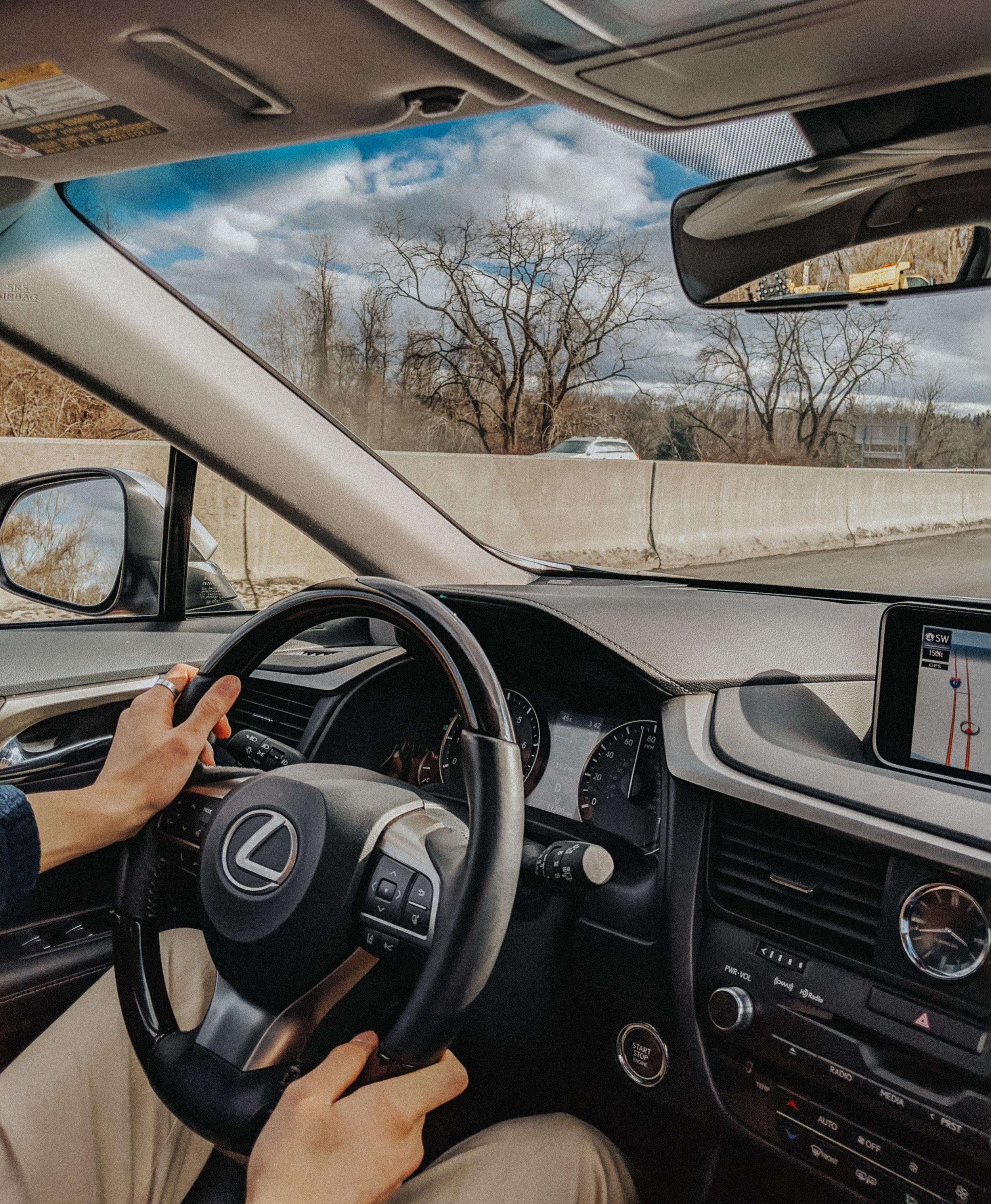 Interior look of the Lexus RX 350L
