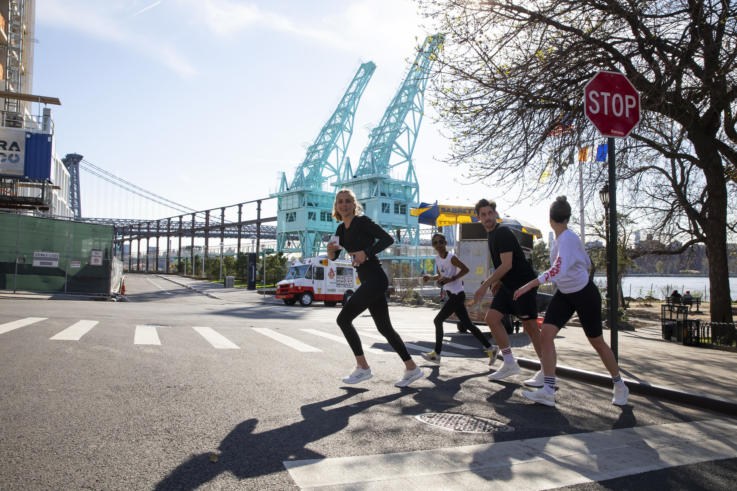 Running around Brooklyn in the new Adidas shoes.  Photo: Jonny Weeks Photography