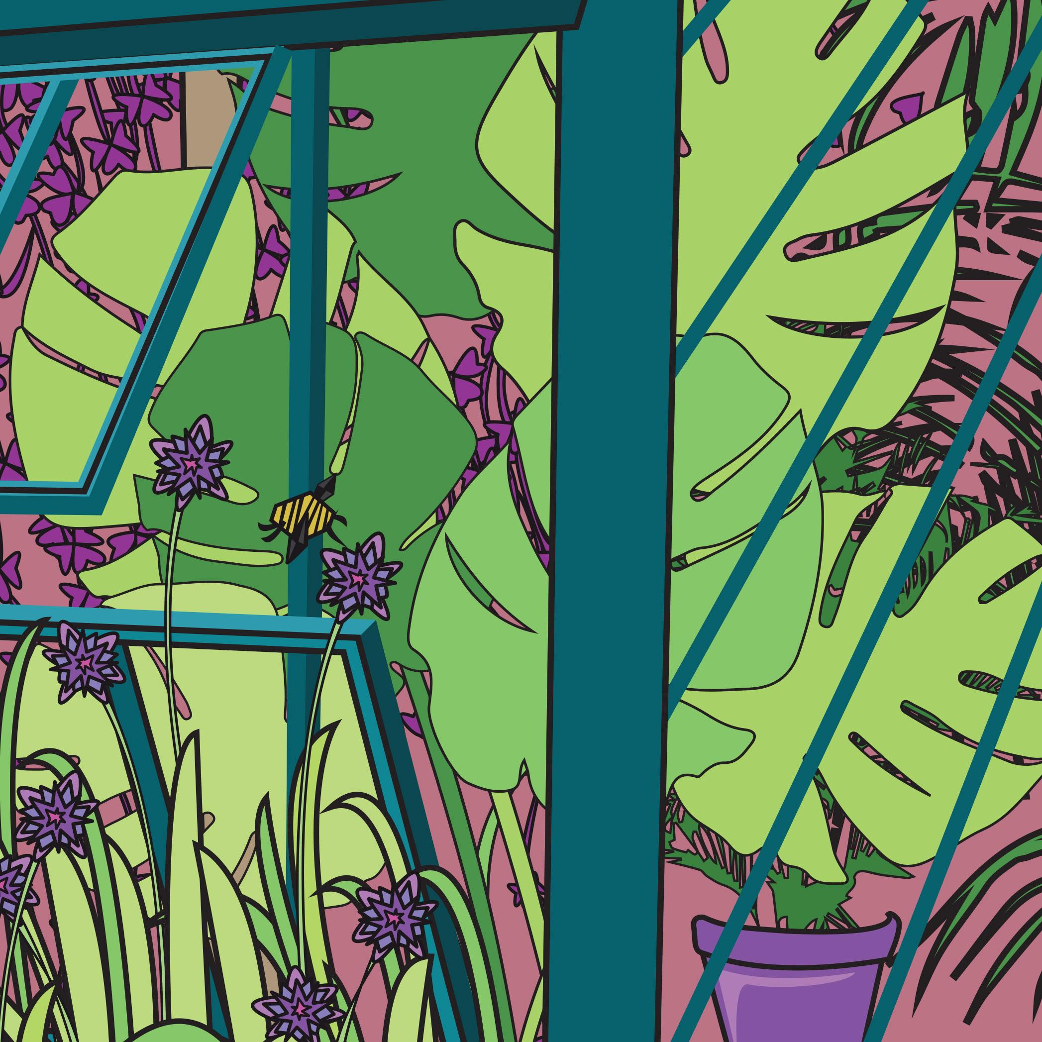 green-tropical-foliage-illustration