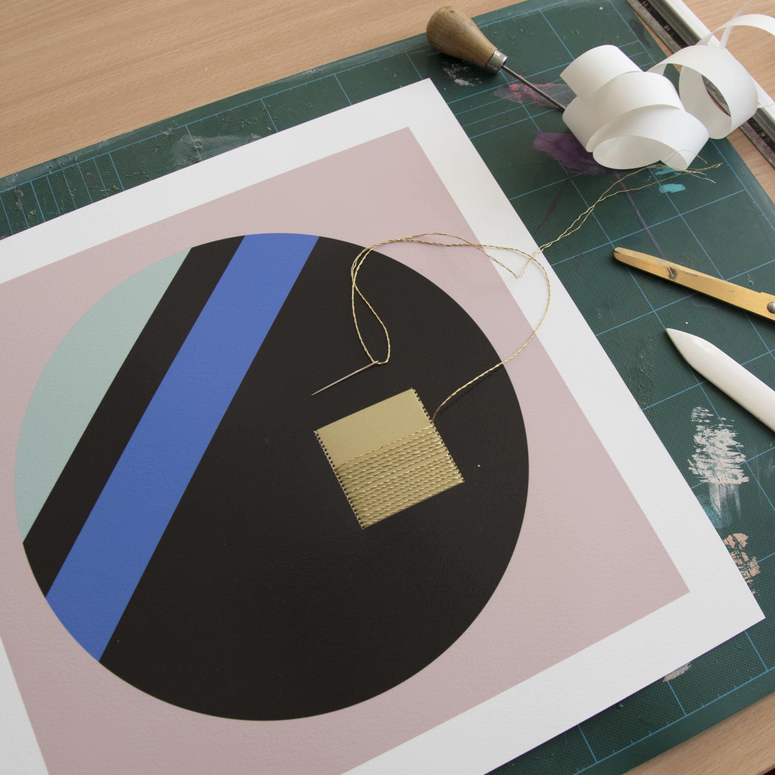 STUDIO-ARTIST-STITCHING-ARTWORK