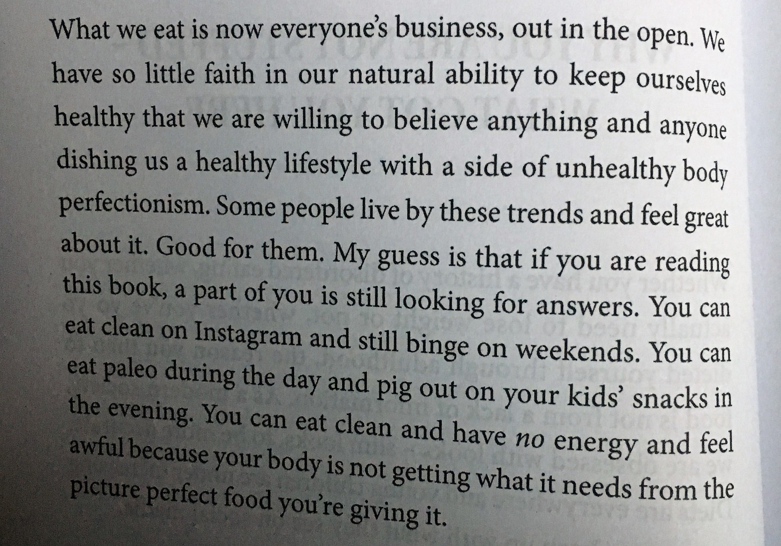 """""""You can eat clean on Instagram and still binge at the weekends""""   Food for thought right there!"""