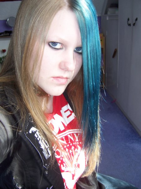 Sliding into teenage depression: I began to hide myself behind dark baggy clothes, bright hair dye and thick make-up