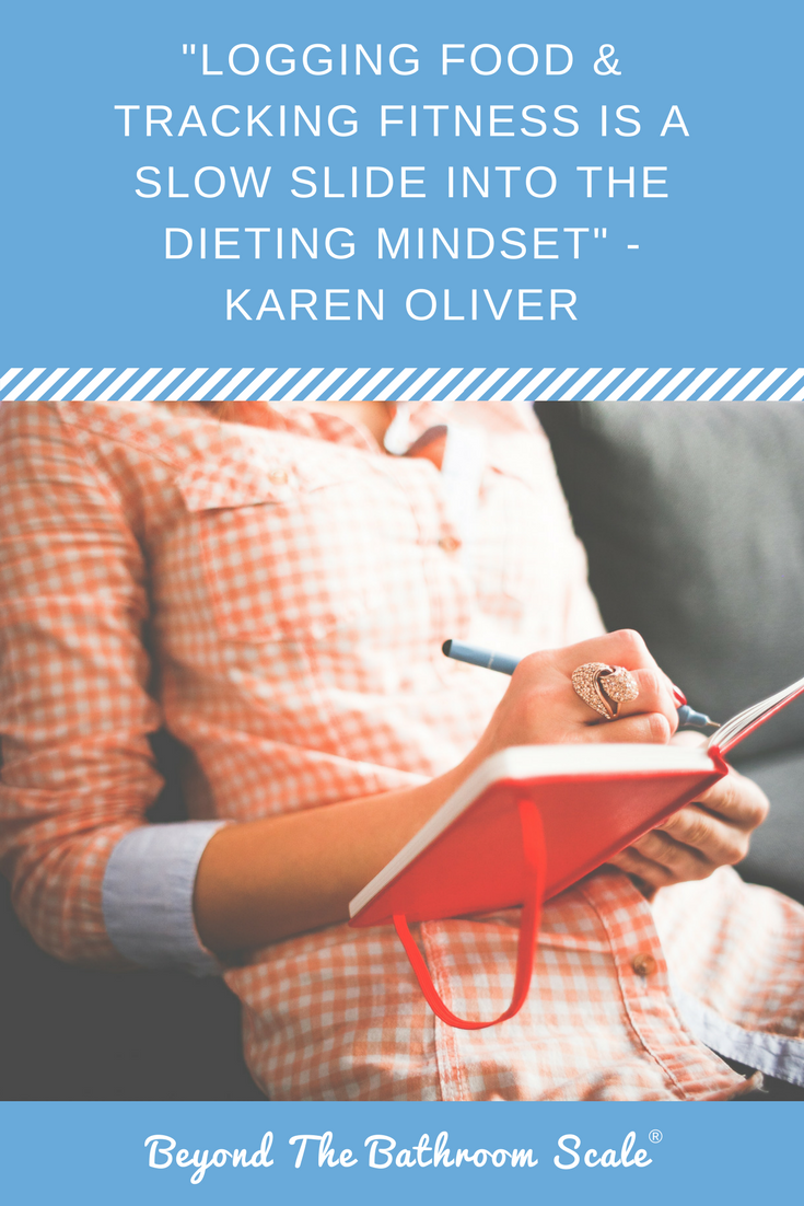 logging food and fitness dieting mindset eating disorders
