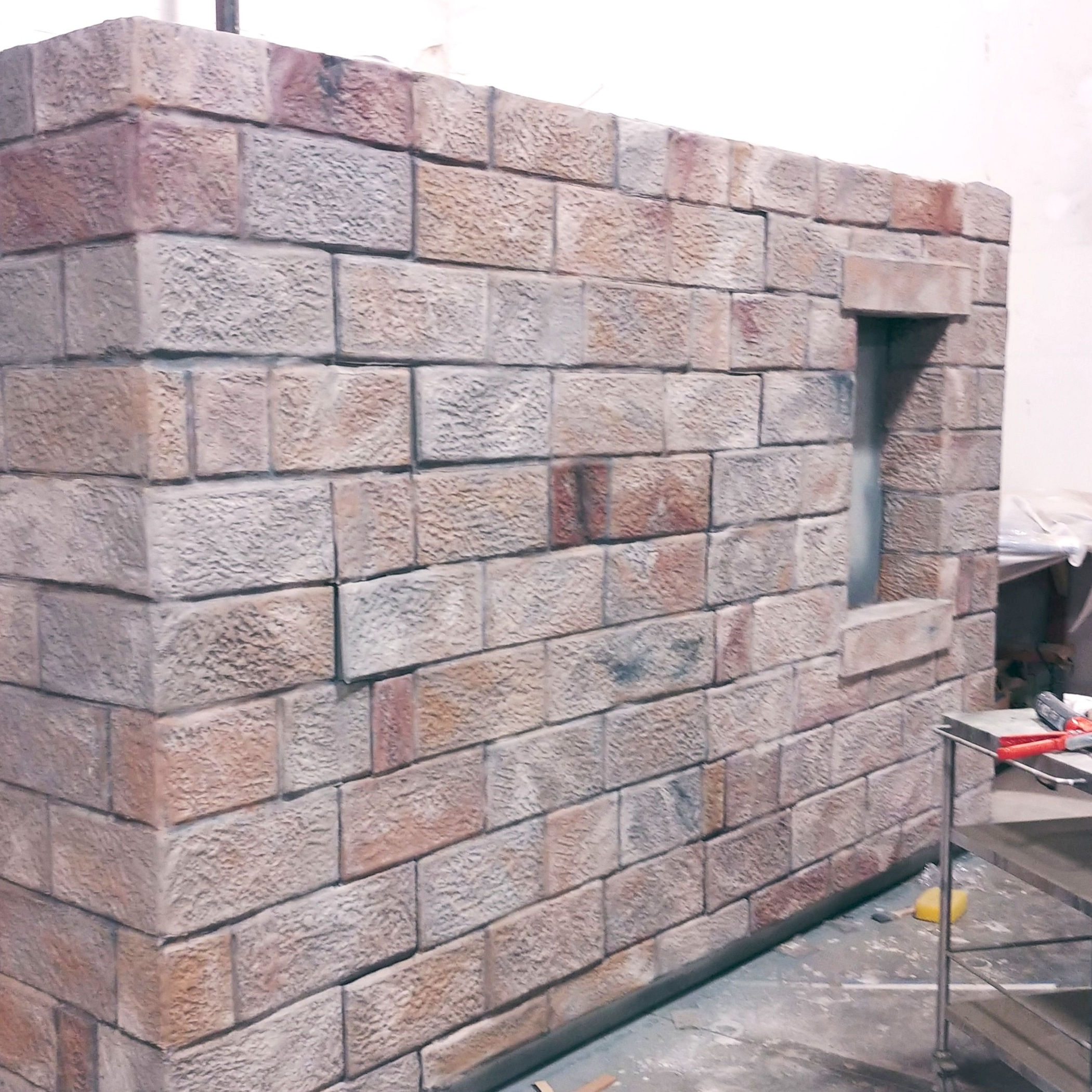 Scenic wall element for Old West Jail exhibit at Kimble County Historical Museum